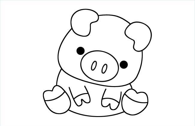 小猪简笔画图片