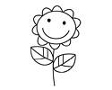 笑脸向日葵简笔画图片