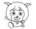 喜羊羊简笔画图片