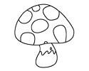 蘑菇简笔画图片