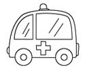 呆萌版的救护车简笔画图片