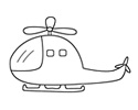 简易直升机简笔画图片