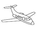 喷气式飞机简笔画图片
