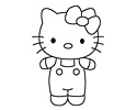 Hello Kitty简笔画图片