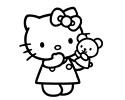 凯蒂猫简笔画图片