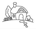 家园小房子简笔画图片