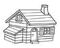 带烟囱的小房子简笔画图片