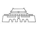 天安门城楼简笔画图片