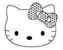 Hello Kitty猫头像简笔画图片