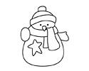 冬天雪人简笔画图片