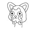 哭泣的阿狸简笔画图片