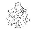 简单的圣诞树简笔画图片