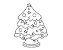 五角星圣诞树简笔画图片