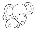 十二生肖之老鼠的简笔画图片