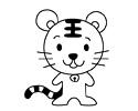 十二生肖之老虎的简笔画图片