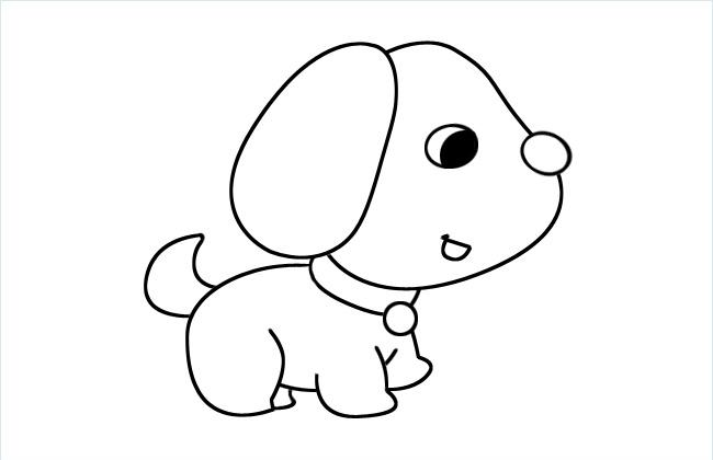 可爱小狗狗简笔画图片