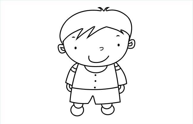 小P孩子简笔画图片