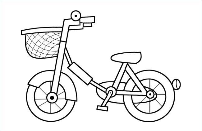 儿童自行车简笔画图片