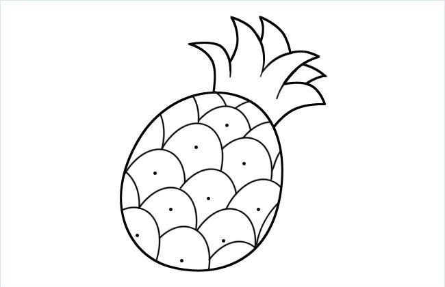 菠萝儿童简笔画图片