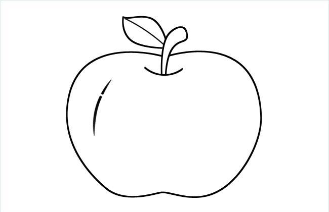 苹果简笔画图片