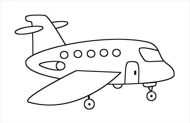 小飞机简笔画图片