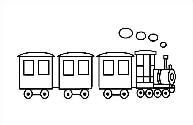 宝宝简易火车简笔画图片