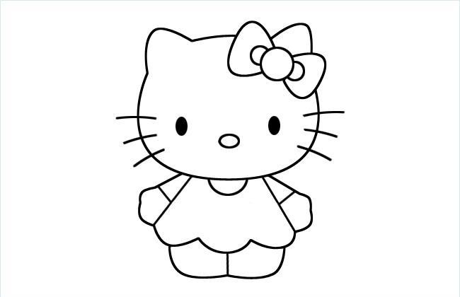 可爱Hello Kitty猫简笔画图片