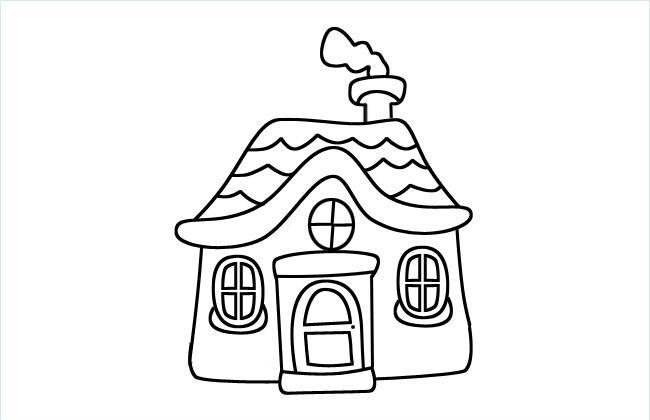 小房子简笔画图片