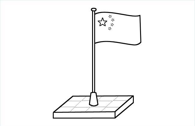 五星红旗简笔画图片