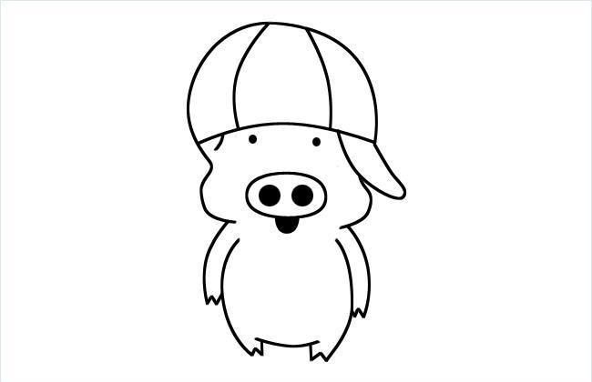 小猪麦兜简笔画图片