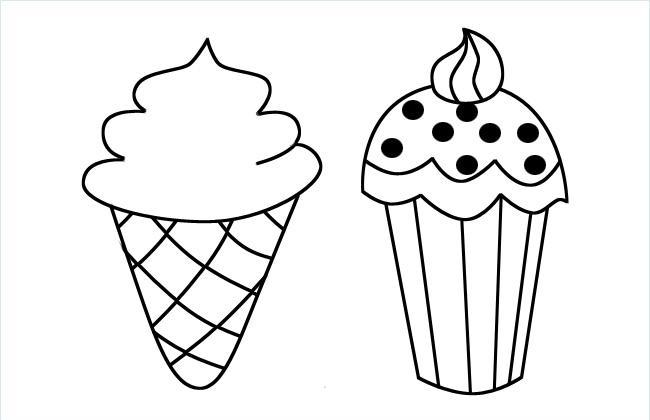美味冰激凌简笔画图片