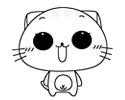 CC猫表情简笔画图片