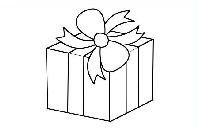 礼物盒简笔画图片