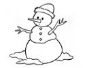 雪人简笔画图片