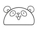 1个半圆就能画出可爱的简笔画 -- 大熊猫