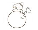 一步一步教你画雪人简笔画