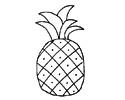 菠萝简笔画教程 6个步骤画出简笔画菠萝