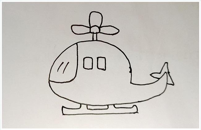 直升机简笔画步骤