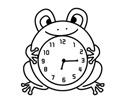 小青蛙闹钟简笔画包含步骤图