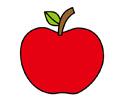 苹果简笔画的画法步骤图片带颜色
