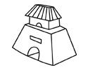 古代城楼简笔画画法步骤
