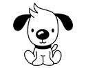 长耳朵小狗简笔画的画法步骤