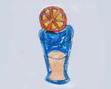 果汁饮料杯简笔画小朋友的作品