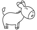 小毛驴简笔画图片包含步骤画法