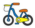 儿童自行车简笔画的步骤图片和上色