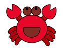 螃蟹简笔画步骤画法上色教程