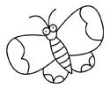 飞翔蝴蝶简笔画图片画法步骤教程