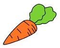 胡萝卜简笔画的画法步骤及上色教程
