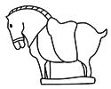 石马雕塑简笔画图片