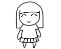 可爱的小胖妞简笔画图片